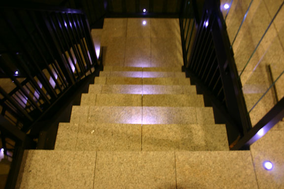 StoneDeck Steps with Lights