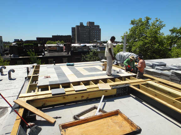 StoneDeck Rooftop Install with Joists